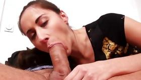 Tasty slut is depraved sucking on the heavy penis