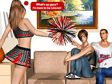 Use all the power while seducing hot cheerleader